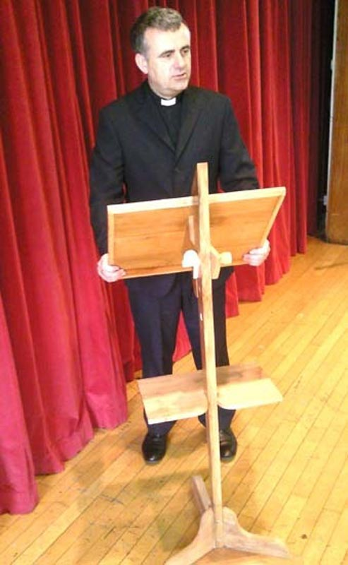 School lectern made from London Plane
